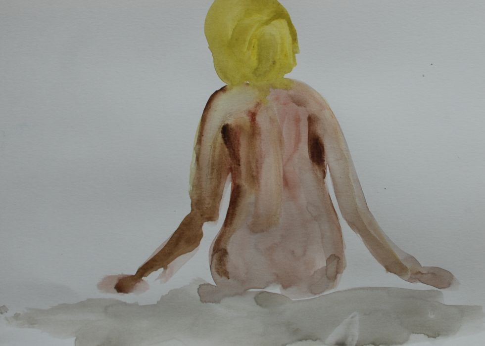 Orly Maiberg, Untitled, water color on paper, 50x35cm, 2015
