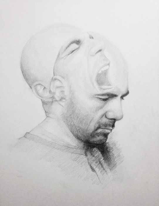 Michael Halak, Untitled, pencil on paper, 60x45cm, 2015