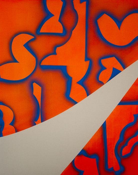 Jossef Krispel, Acrylic and Oil spray on Canvas, 76x96cm,2016