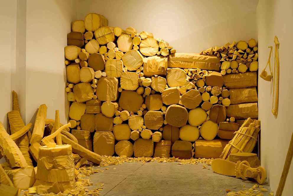 Dina Shenhav, The end of the forest, Tavi Dresdner Gallery, Tel Aviv, Israel. 2008
