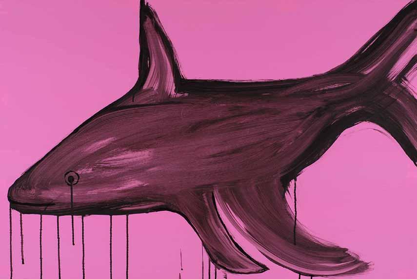Dina Shenhav, Underwater tears, acrylic on plastic, 80x120cm, 2010