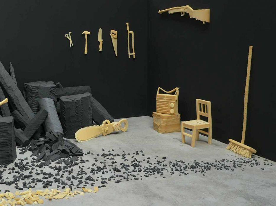 Dina Shenhav, D.O.A. foam installation, Art Center South Florida, Miami, 2015