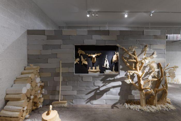 Dina Shenhav, D.O.A. foam installation, ArtCenter South Florida, Miami, 2015