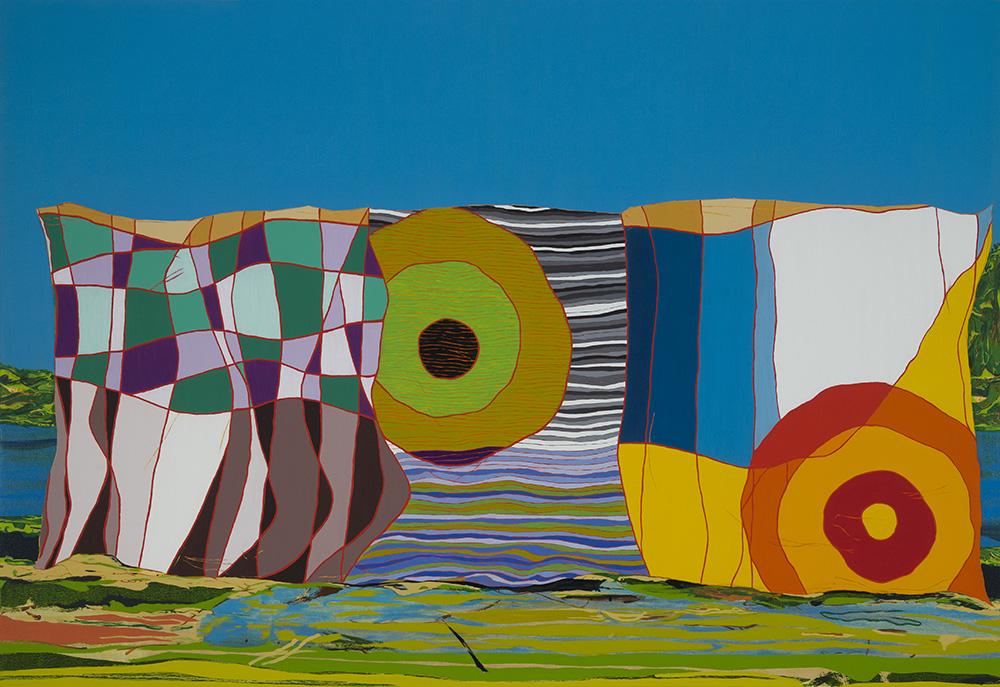 Matan Ben Tolila, facing east, oil on canvas, 130x190 cm, 2016
