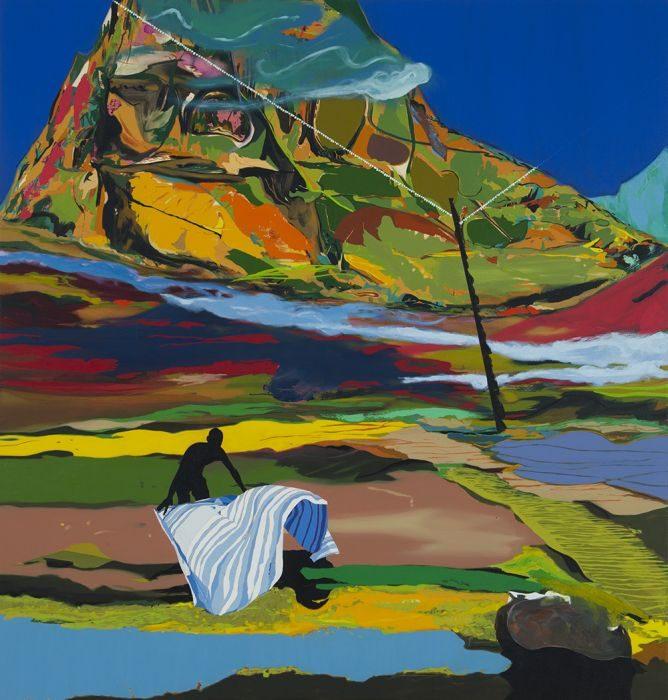 Matan Ben Tolila, me blackened, oil on canvas, 133x127cm, 2016