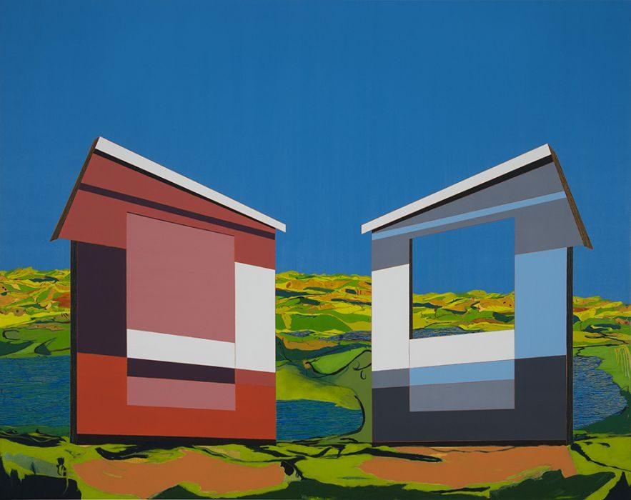 Matan Ben Tolila, set, oil on canvas, 150x190 cm, 2016