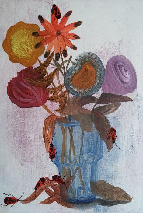 Talia Keinan, untitled #2, oil & sand on canvas, 40x30cm, 2016