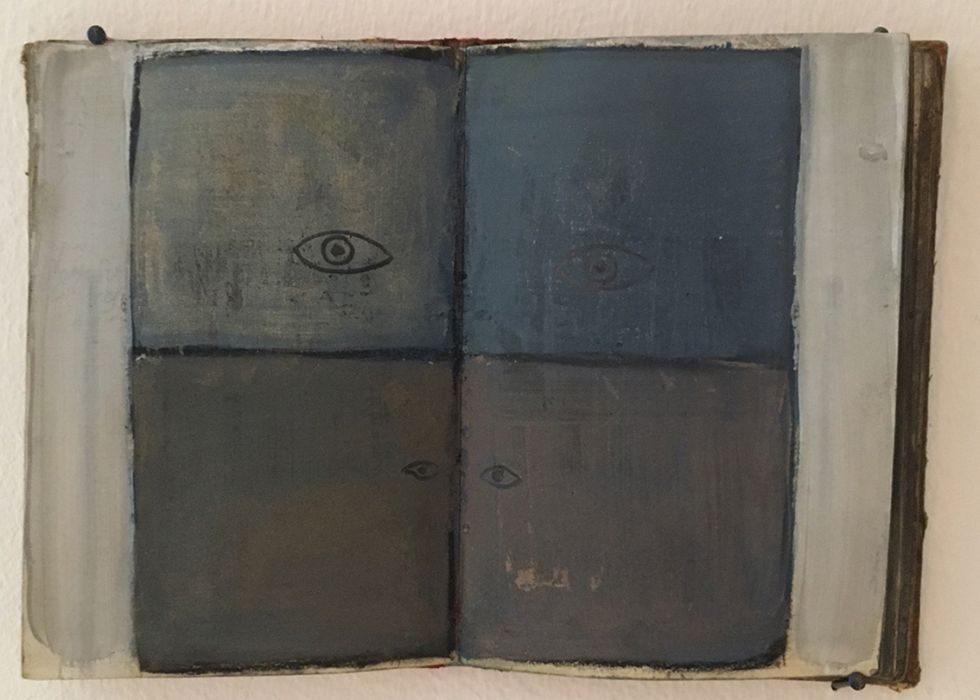 Talia Keinan, untitled #3, mixed media on canvas,19x5x14cm, 2016