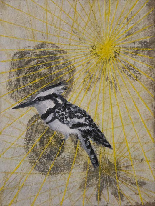 Talia Keinan, Untitiled #15, mixed media on canvas, 30x40cm, 2016