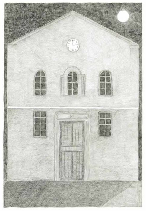Alexandra Zuckerman, House number seven,Pencil on paper, 59x42cm, 2012