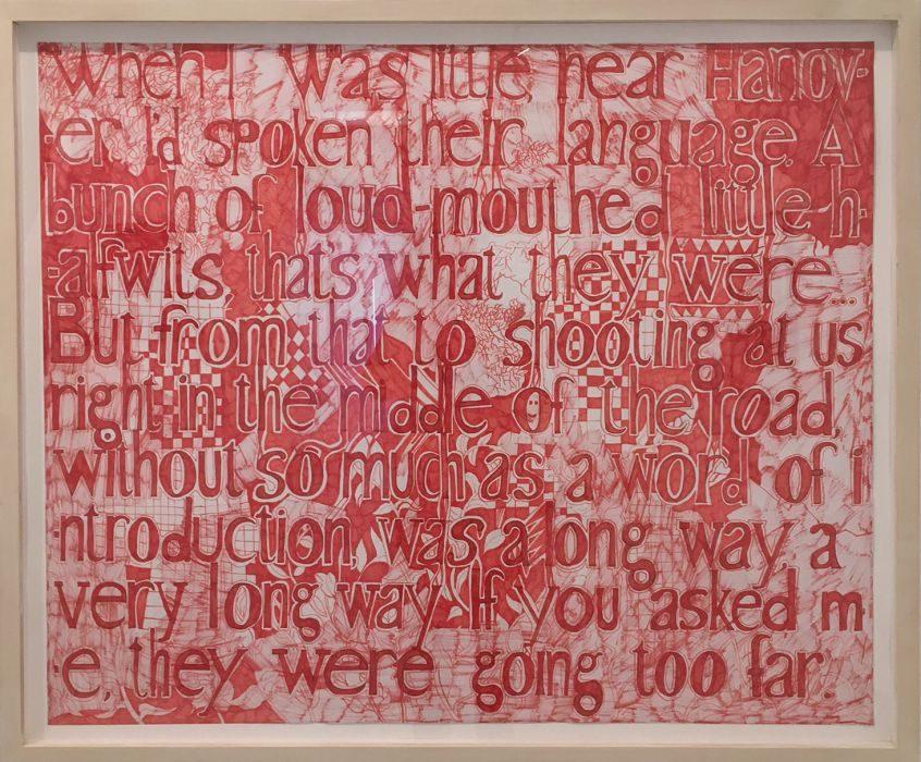 Keren Cytter, A quoet, marker on paper, 98x115cm, 2007