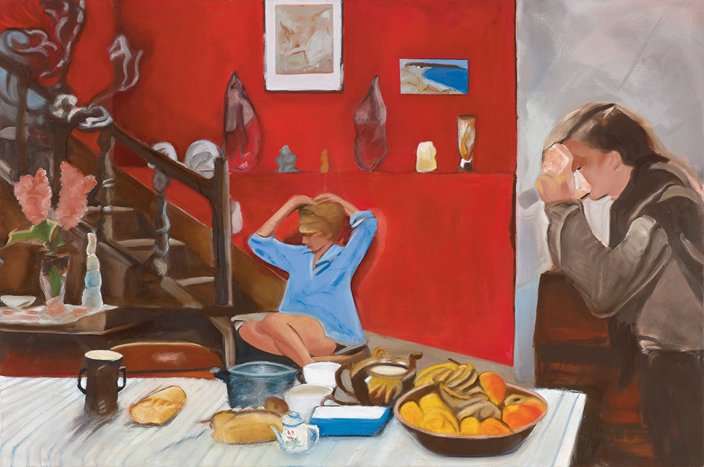 breakfast, Oil on canvas,100x150cm
