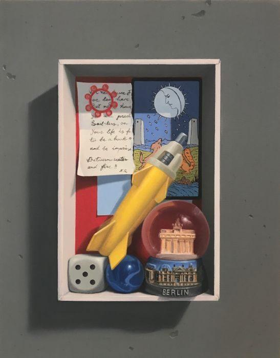 Memory box #6, oil on canvas, 43x35 cm, 2017