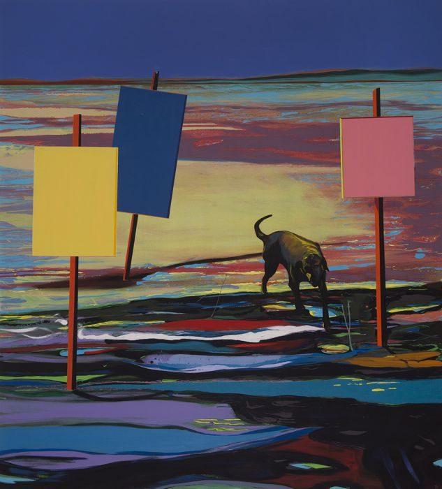 Matan Ben-Tolila, Signs, oil on canvas, 160x145 cm, 2017