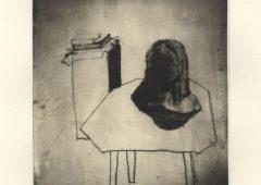 10 Neris head (self portrait).photogravure print edition of 6+6AP. 25x20 cm. 2014