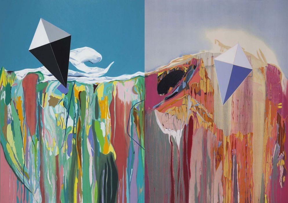 Matan Ben-Tolila, Kite #1, oil on canvas, 200x280 cm, 2017