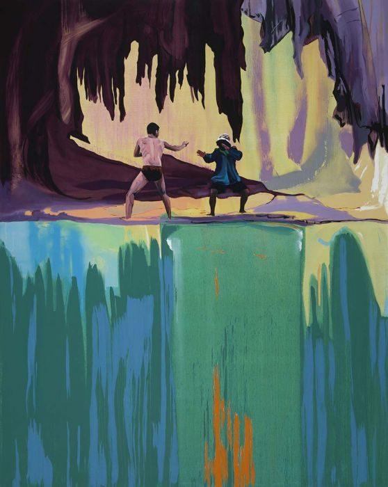 Matan Ben-Tolila, Confrontation #1, oil on canvas, 195x155 cm, 2017