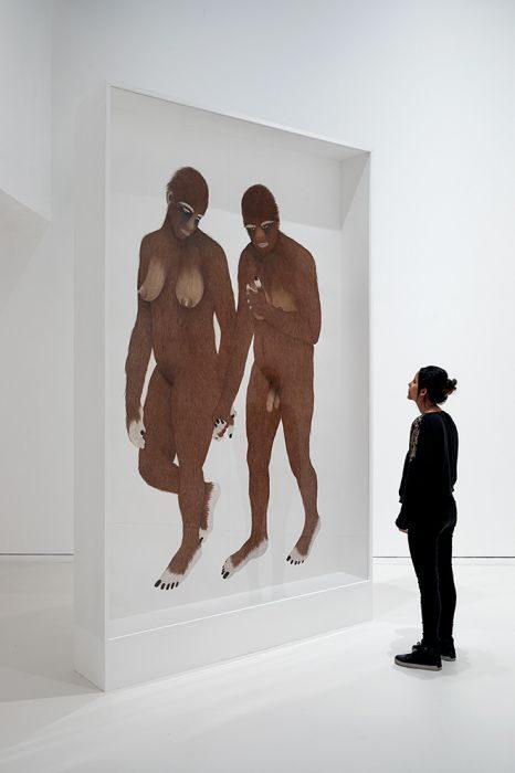 Moran Kliger, Seven Primates, 2018, installation view, Basis Gallery, Herzliya