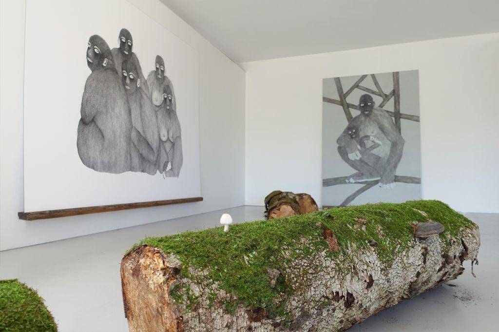 Moran Kliger,  Primates, 2017, installation view, Installation view, , OpenART Biennale, örebro, sweden