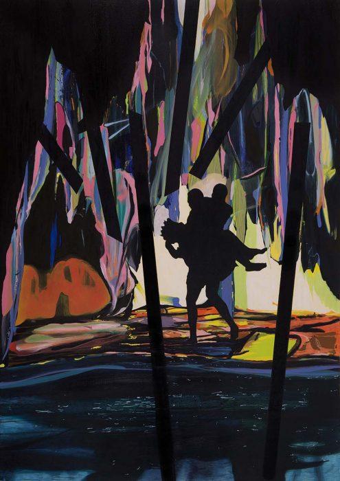 Back light, 2017, Oil on canvas, 170x120cm
