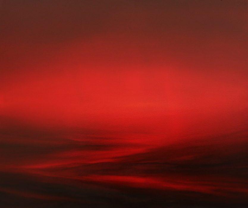 Crimson Field, 2019, Oil on canvas, 100x120cm