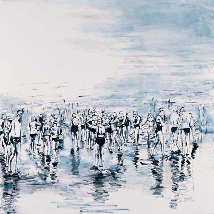 Orly Maiberg, Untitled 21, oil on canvas, 140x140 cm, 2012