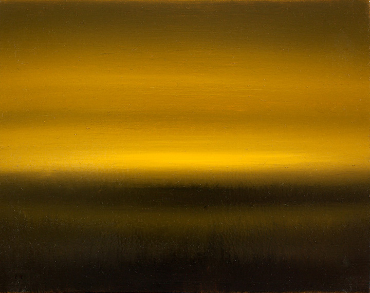 Mosh Kashi, Icon yellow fields, 2009, oil on canvas, 24x19cm