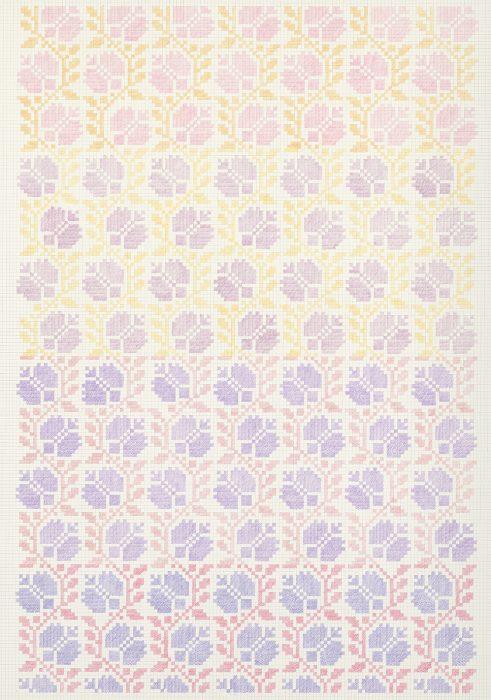 Flower Field XVI,, 2019, Pencils on paper, 102x72cm